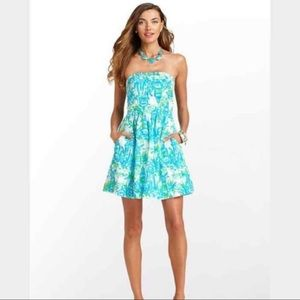 Lilly Pulitzer Chandie Lighthouse Strapless Dress